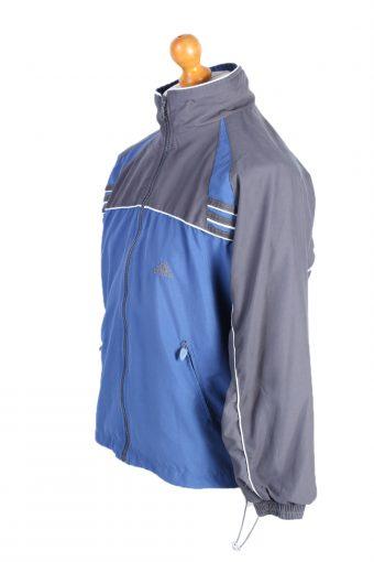 Vintage Adidas Three Stripes Tracksuit Top S Blue Grey -SW1990-86915