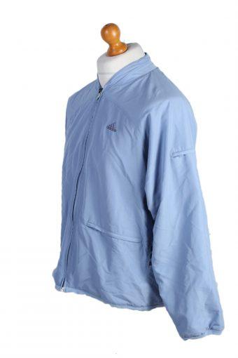 Vintage Adidas Three Stripes Tracksuit Top M Turquoise -SW1992-86925