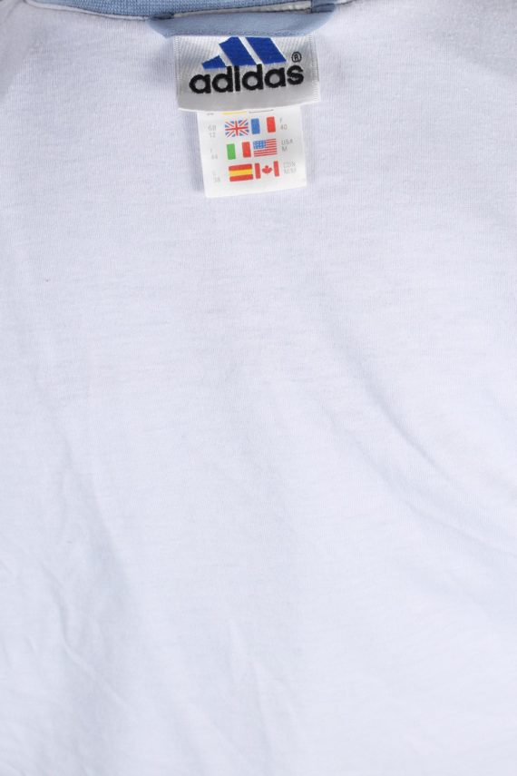 Vintage Adidas Three Stripes Tracksuit Top M Turquoise -SW1992-86928