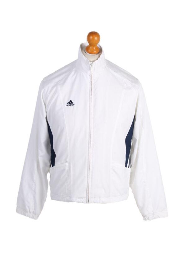Vintage Adidas Three Stripes Tracksuit Top S White -SW1995-0