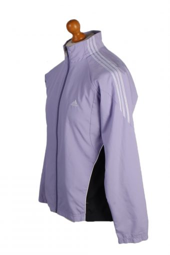 Vintage Adidas Three Stripes Tracksuit Top L Purple -SW2002-86975