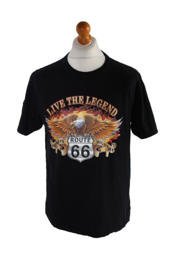 Vintage Wild Short Sleeve Shirt L Black TS181-0