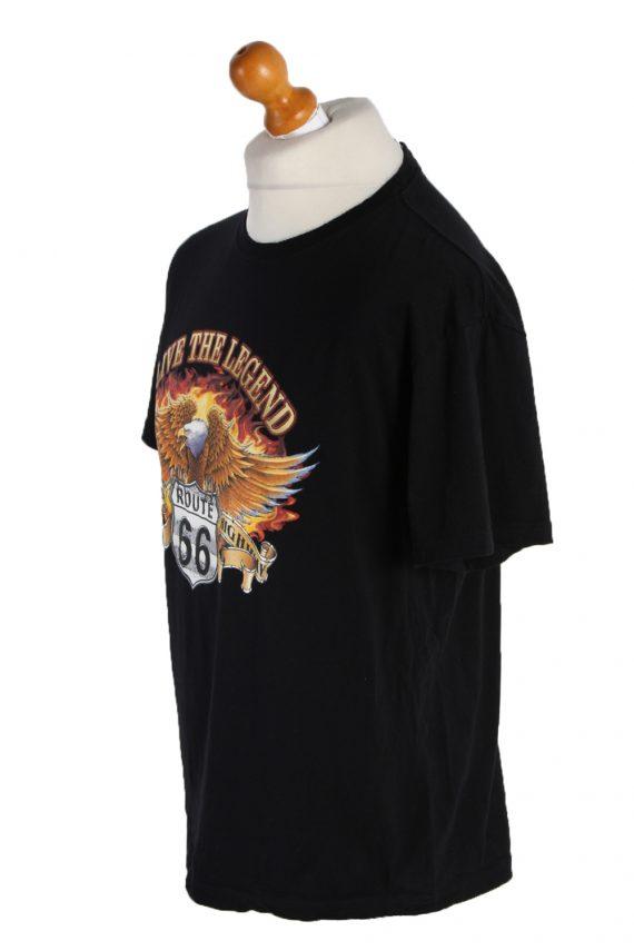 Vintage Wild Short Sleeve Shirt L Black TS181-90673