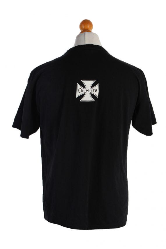 Vintage Wild Short Sleeve Shirt L Black TS181-90674