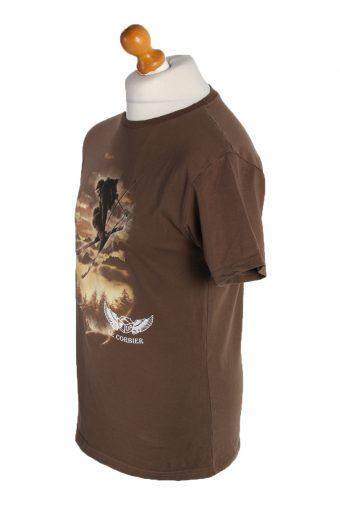 Vintage The Roxx Short Sleeve Shirt M Brown TS186-90689
