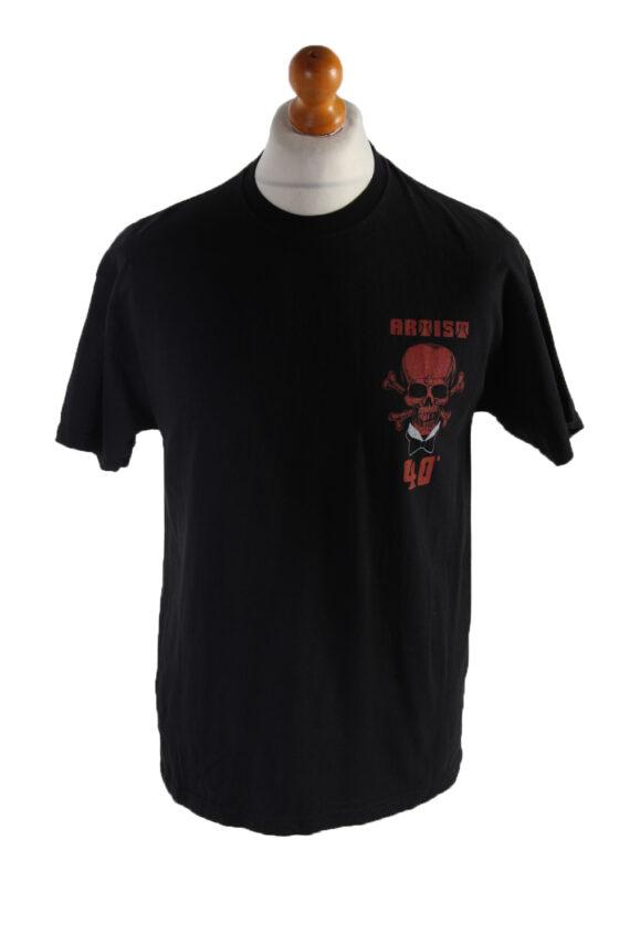 Vintage PK Sports Short Sleeve Shirt L Black TS187-0