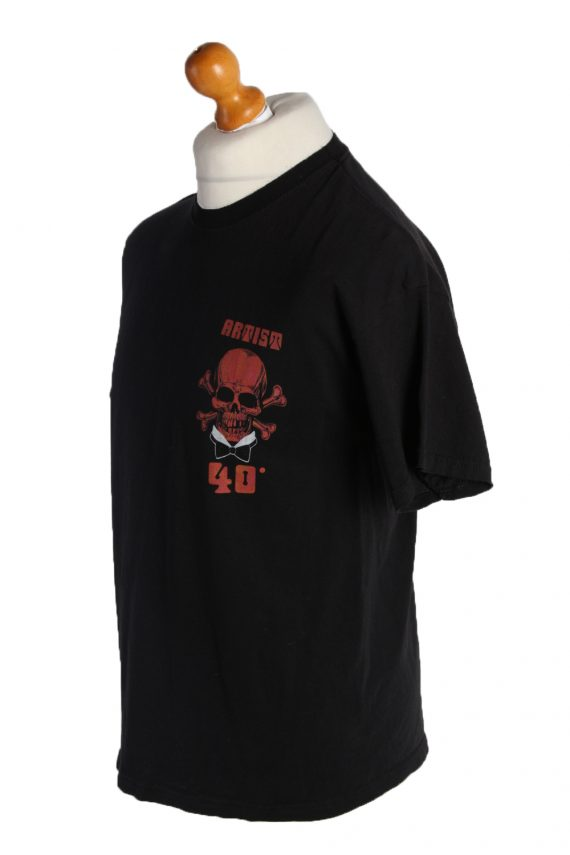 Vintage PK Sports Short Sleeve Shirt L Black TS187-90693