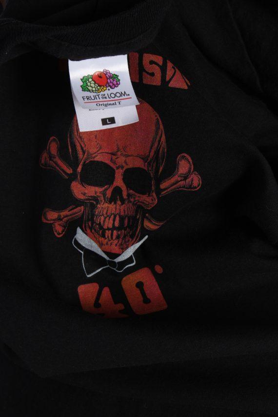 Vintage PK Sports Short Sleeve Shirt L Black TS187-90695