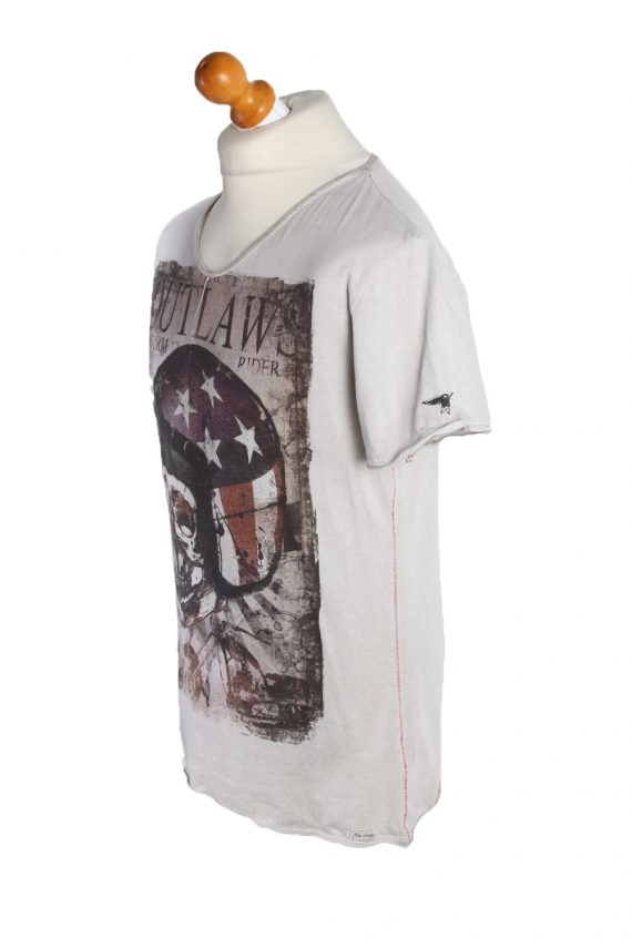 Vintage Unbranded Short Sleeve Shirt L Gray TS195-90729