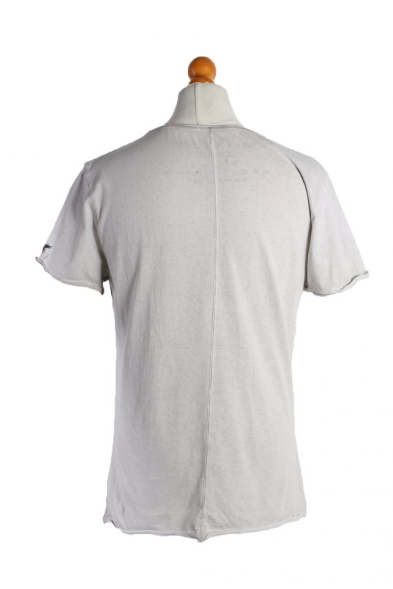 Vintage Unbranded Short Sleeve Shirt L Gray TS195-90730