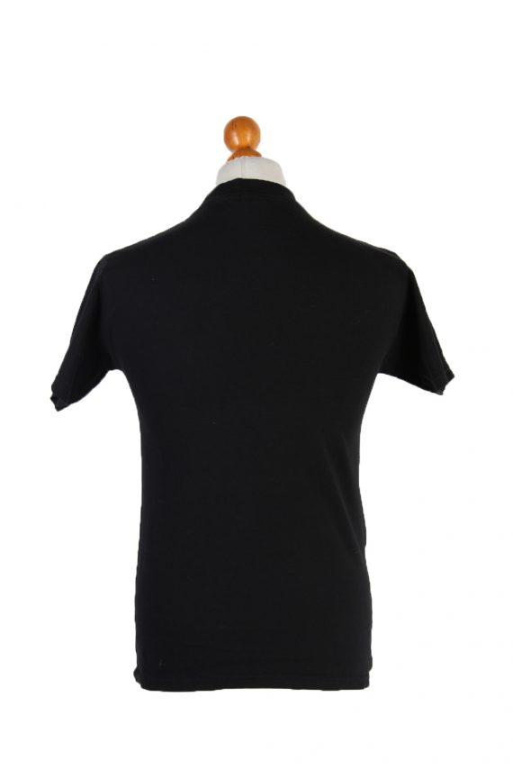 Vintage Fruit of the Loom Short Sleeve Shirt S Black TS199-90722