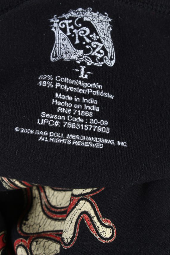 Vintage FunShirt Short Sleeve Shirt L Black TS206-90653