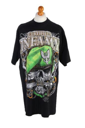 Men T-Shirt 90s Retro Shirt Black XXL