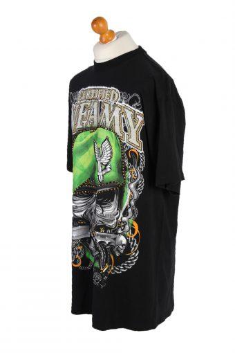 Vintage Fuya Short Sleeve Shirt XXL Black TS216-90941