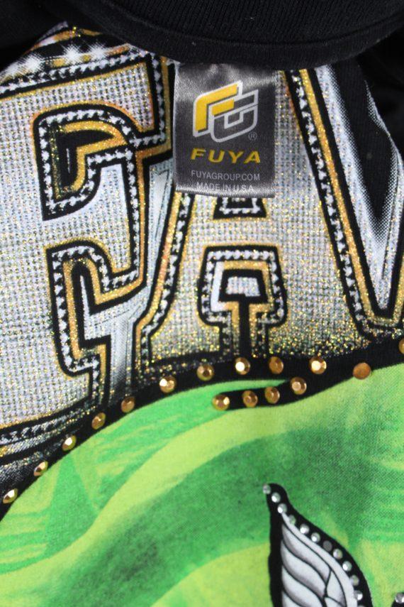 Vintage Fuya Short Sleeve Shirt XXL Black TS216-90943