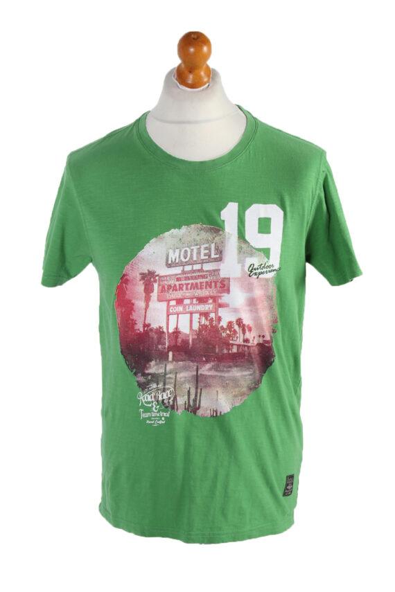 Vintage Identic Short Sleeve Shirt M Green TS223-0