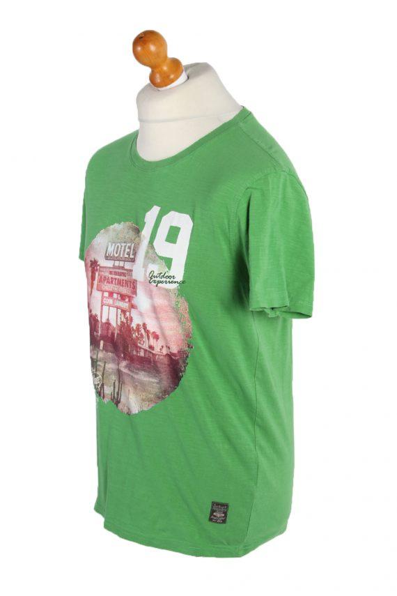 Vintage Identic Short Sleeve Shirt M Green TS223-90965