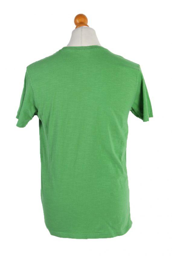 Vintage Identic Short Sleeve Shirt M Green TS223-90966
