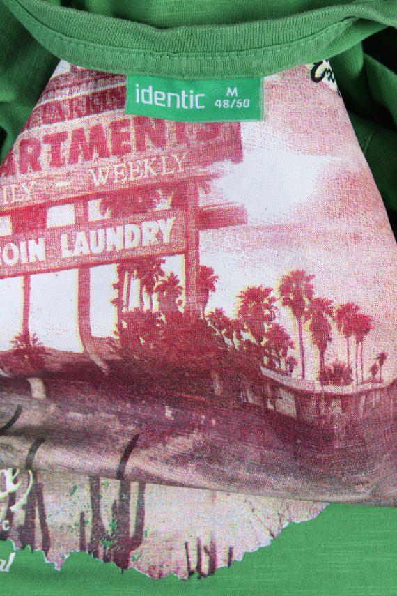 Vintage Identic Short Sleeve Shirt M Green TS223-90967