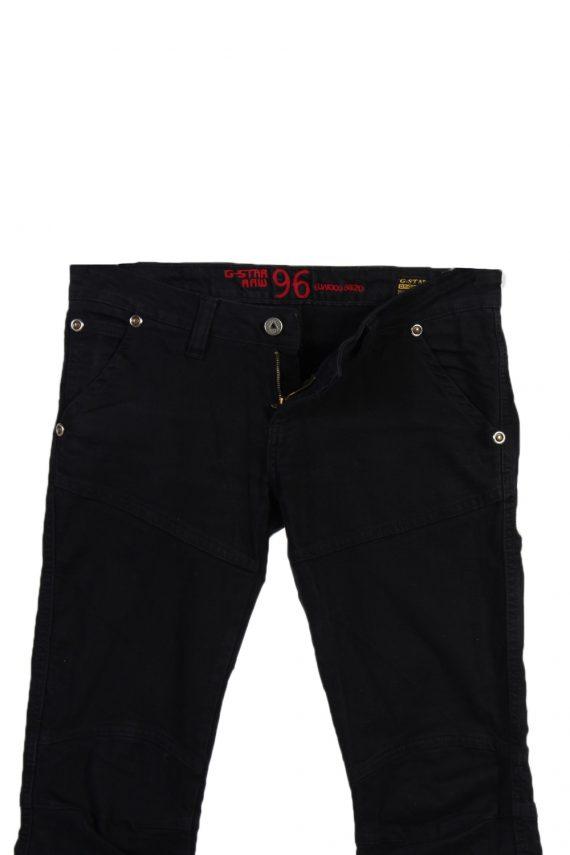 Vintage G-Star Raw 96 Elwood Denim Jeans W29 L28 Black J3768-92469