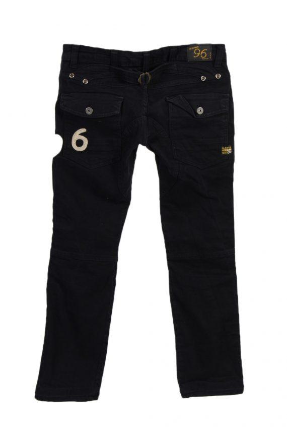 Vintage G-Star Raw 96 Elwood Denim Jeans W29 L28 Black J3768-92470