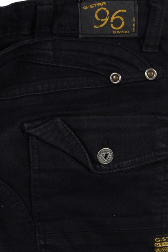 Vintage G-Star Raw 96 Elwood Denim Jeans W29 L28 Black J3768-92471
