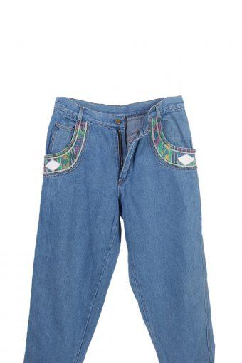 Vintage *RARE* Designer Remake Straight Leg Jeans W30 L31 Blue J3805-93515