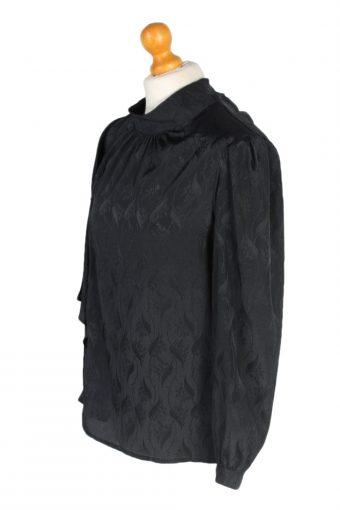 Vintage Unbranded Blouses Long Sleeve M Black LB185-95184