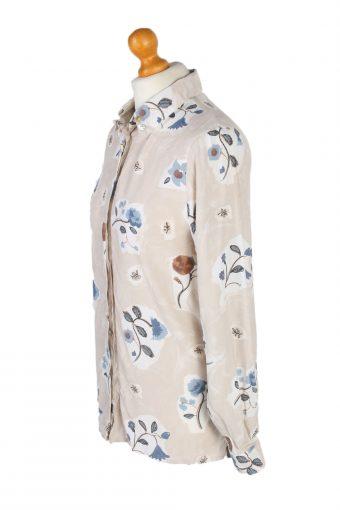 Vintage Fashion Collection Shirt Long Sleeve M Cream LB191-95208
