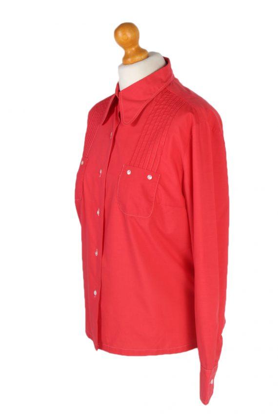 Vintage Unbranded Blouses Long Sleeve L Red LB192-95212