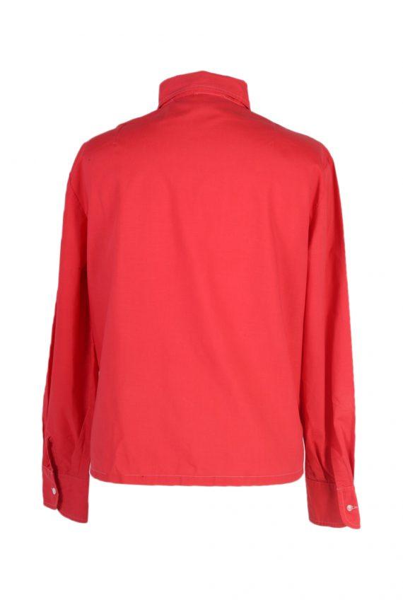 Vintage Unbranded Blouses Long Sleeve L Red LB192-95213