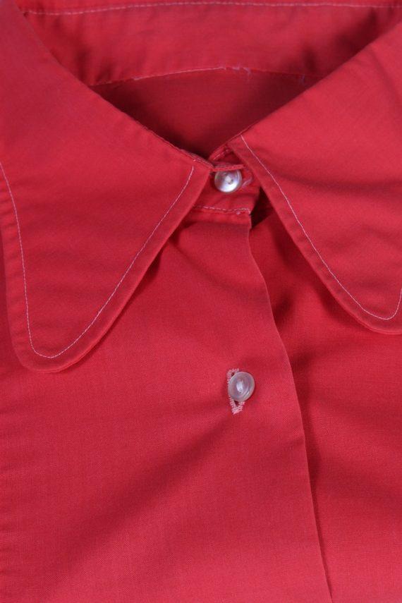 Vintage Unbranded Blouses Long Sleeve L Red LB192-95214