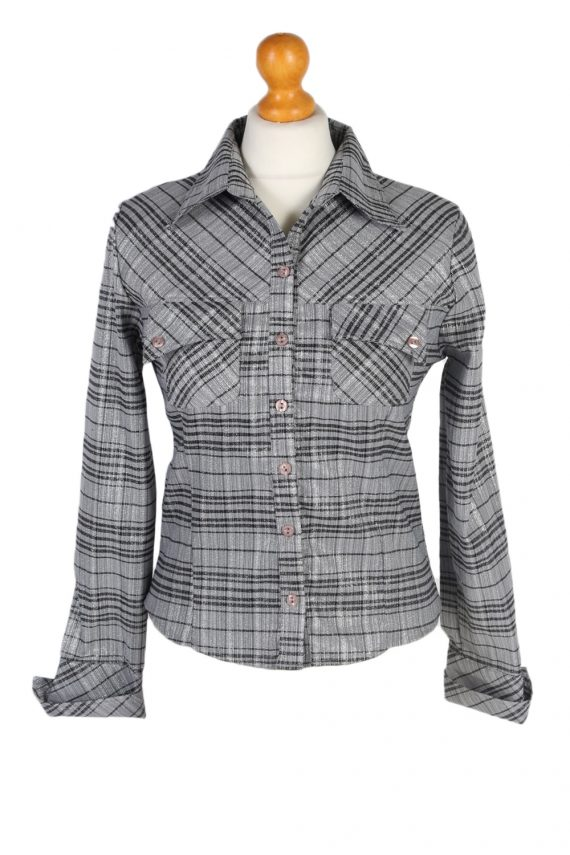 Vintage Comunanza Blouses Long Sleeve S Grey LB193-0