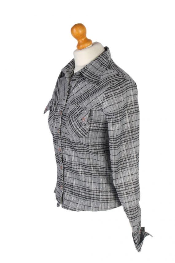 Vintage Comunanza Blouses Long Sleeve S Grey LB193-95216