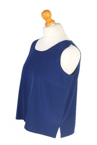 Vintage Unbranded Blouses Sleeveless L Navy LB198-95236