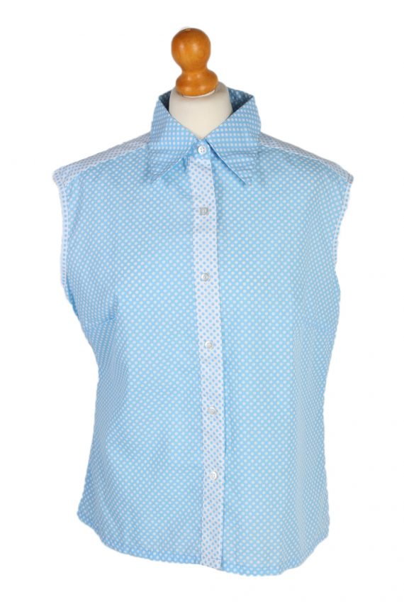 Vintage Unbranded Blouses Sleeveless XL Turquoise LB201-0