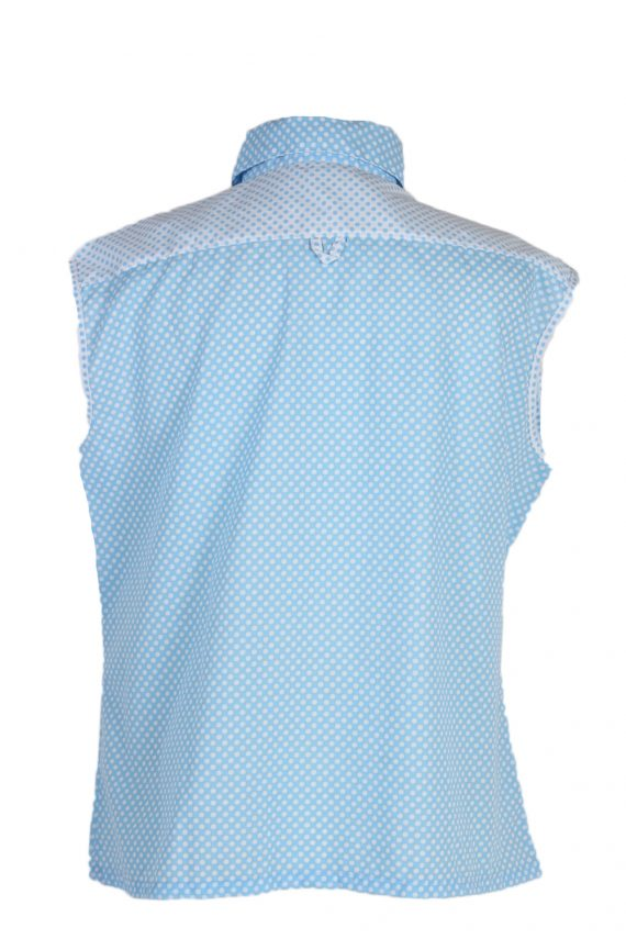 Vintage Unbranded Blouses Sleeveless XL Turquoise LB201-95249