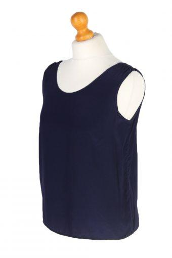 Vintage Unbranded Blouses Sleeveless L Navy LB202-95252