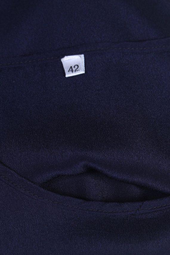 Vintage Unbranded Blouses Sleeveless L Navy LB202-95254