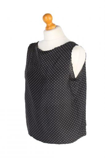 Vintage Unbranded Blouses Sleeveless L Black LB203-95256