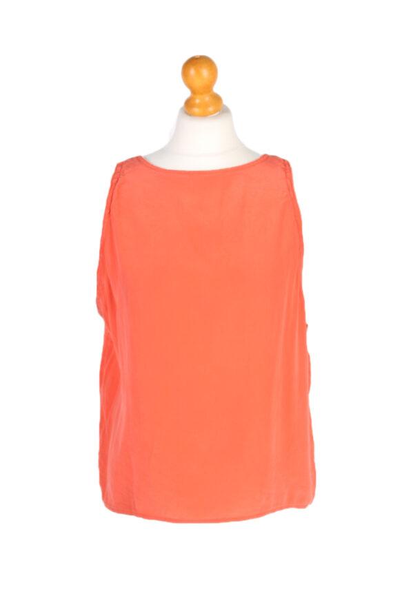 Vintage Unbranded Blouses Sleeveless L Coral LB205-0