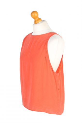Vintage Unbranded Blouses Sleeveless L Coral LB205-95264
