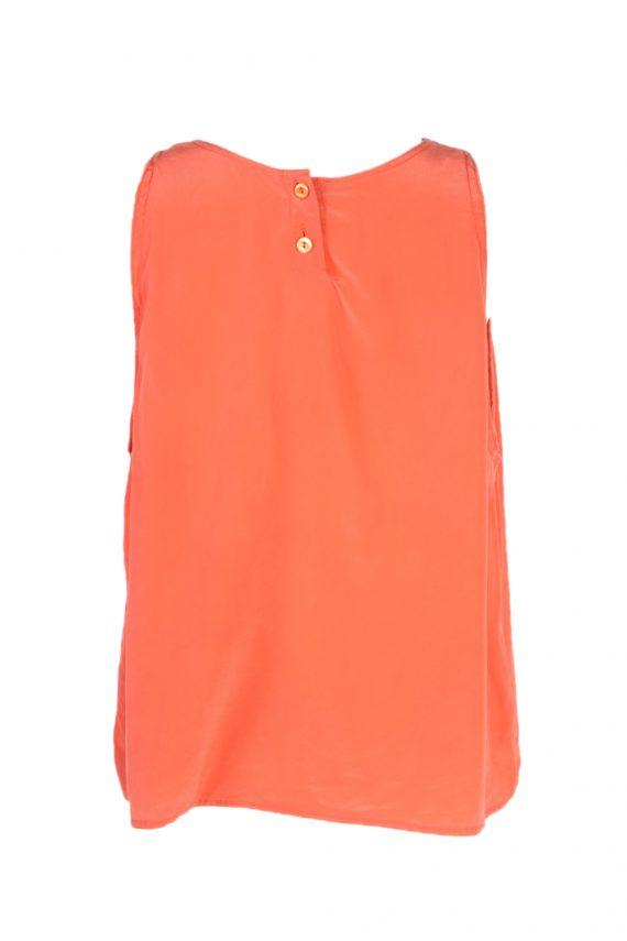 Vintage Unbranded Blouses Sleeveless L Coral LB205-95265