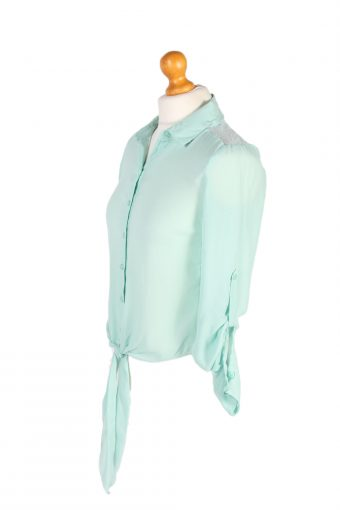 Vintage Candie's Shirt Long Sleeve XS Green LB213-95634