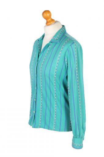 Vintage Germain Shirt Long Sleeve L Green LB219-95658