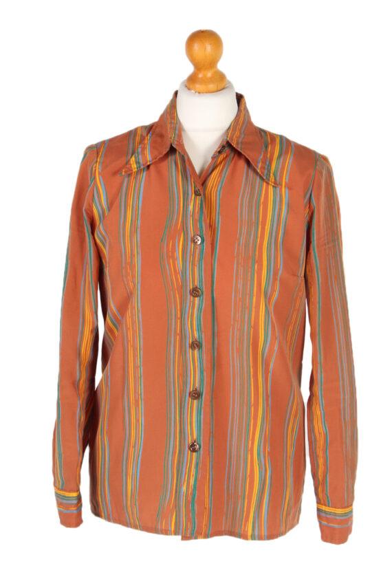 Vintage Unbranded Shirt Long Sleeve XL Brown LB223-0