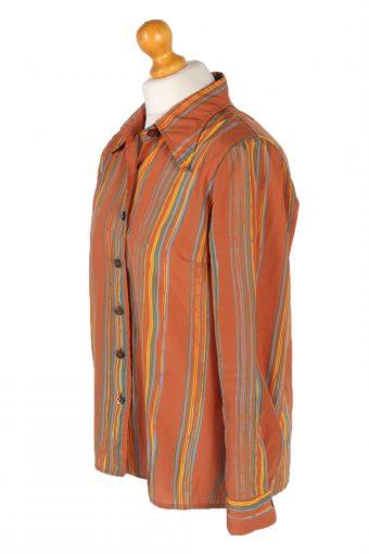 Vintage Unbranded Shirt Long Sleeve XL Brown LB223-95674