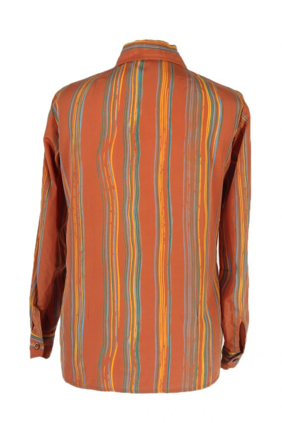 Vintage Unbranded Shirt Long Sleeve XL Brown LB223-95675