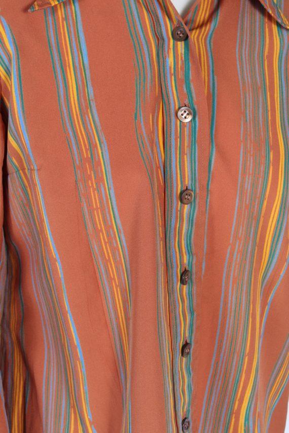 Vintage Unbranded Shirt Long Sleeve XL Brown LB223-95676