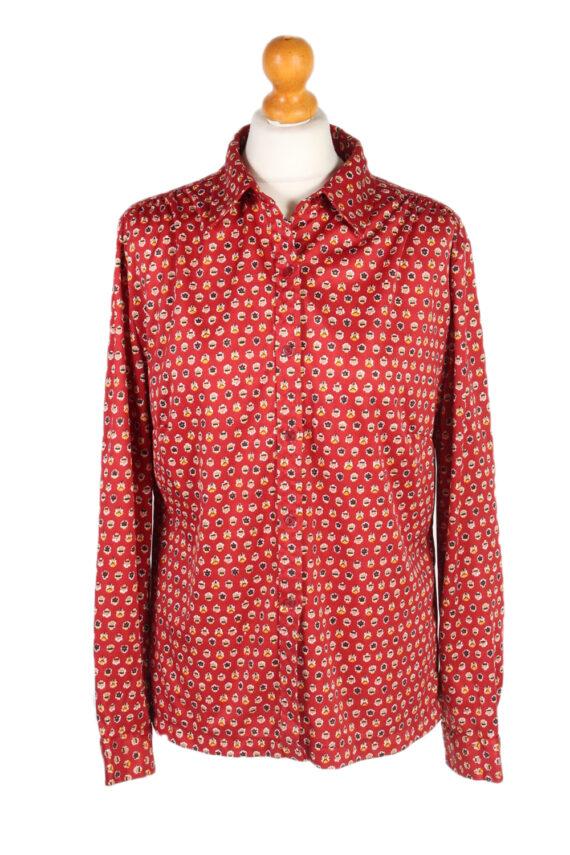 Vintage Unbranded Shirt Long Sleeve L Red LB225-0